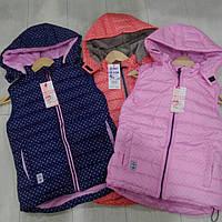 Детская  жилетка для девочки в  горошек  GRACE
