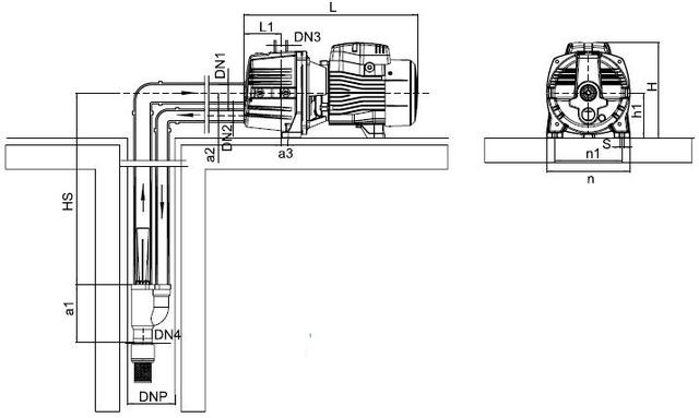 Бытовая насосная станция Aquatica 776239 с эжектором размеры