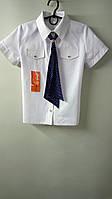 Блузка-рубашка с галстуком. Подростковая, девичья, в клеточку.