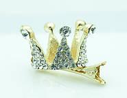 Мини короны на бручах, ободках, короны на гребешках и щипчиках. Аксессуары для волос оптом.