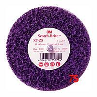 3М™ 05809 Scotch-Brite™ Clean&Strip XT-ZS Purple™ - Зачистной круг на шпинделе 100x13х6 мм, XCRS, пурпурный