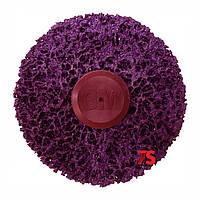 3М™ 05814 Scotch-Brite™ Clean&Strip XT-ZR Purple - Круг фиолетовый с креплением Roloc+ 100х13, XCRS, пурпурный