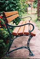 """Ножка для скамейки чугунной """"Королевская"""" (вес - 8.5 кг)- 1шт, фото 1"""