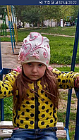 Шапка детская украшенная камнями