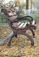 "Чугунная ножка для скамейки ""Декор "" 1 шт (вес  - 24 кг), фото 1"