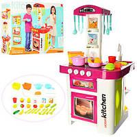 Детская кухня 889-59-60 со свет. и звук. эффектами с встроенным холодильником, с крана льется вода (выс. 78см)