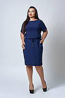 Платье с карманами темно-синего цвета, фото 1