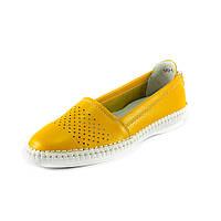 Мокасины женские Allshoes 140-1 желтые
