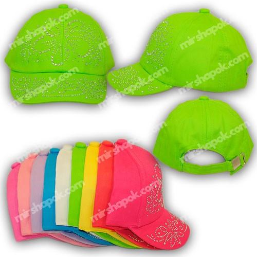 Детские кепки для девочек со стразами, H1701-54, р. 54