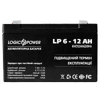 Аккумулятор LogicPower 6V12Ah для детских электромобилей.