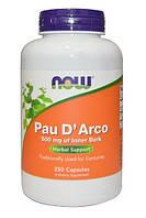 Pau D'Arco, Кора мурашиного дерева,500 мг, 250 капсул, Антисептичний засіб, фото 1