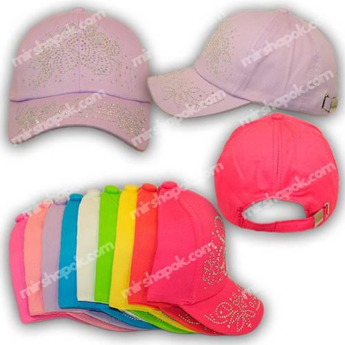 Детские кепки для девочек со стразами, H1703-50, р. 50