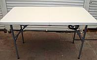 Стол складной туристический 120х60х70 см с железными ножками для пикника