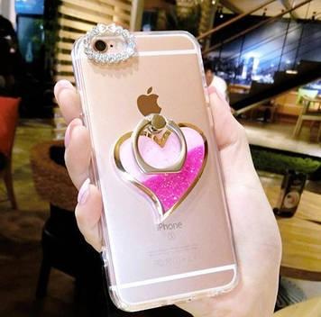 """HTC Desire 626 оригинальный чехол бампер накладка со стразами камнями на телефон с гелем """"LOVE BOTLE"""""""