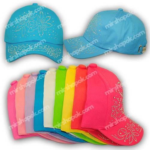 Детские кепки для девочек со стразами, H1704-50, р. 50