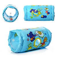 Валик MS 0650 (20шт) надувной для детей,22-44см, с погремушками, в кульке, 16-19-7см
