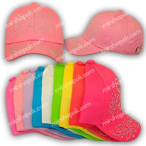 Детские кепки для девочек со стразами, H1705-50, р. 50