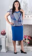 Платье женское, ткань масло с шифоном, размеры с 52го до 58го