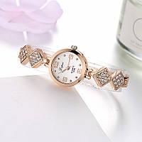 Золотистые женские часы Код 042, фото 1