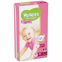 Подгузник Huggies Ultra Comfort для девочек 4 (8-14кг) 66 шт