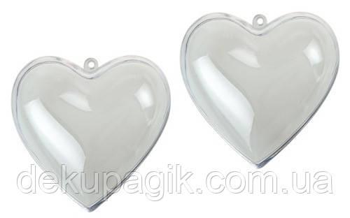 Заготовка из пластика Сердце 10см