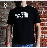 Футболка The North Face черная с белым логотипом,унисекс (мужская,женская,детская)