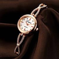 Кварцевыеженские часы Золотистые Код 047, фото 1