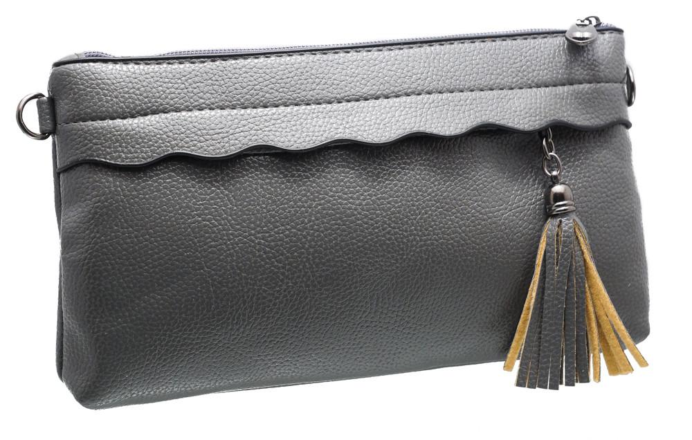 Модный женский клатч 6608 grey