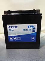 Аккумулятор мото EXIDE  ETX16-BS AGM