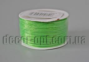Лента органза оттенок зеленой 0,3см/50м арт.052