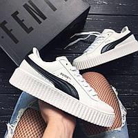 Криперы, слипоны, кеды, кроссовки Rihanna x Fenty x Puma Creeper 'Cracked Leather'/ (Реплика 1:1)