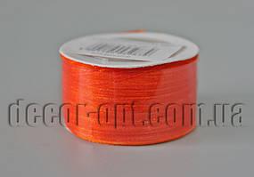 Лента органза оттенок оранжевой 0,3см/50м арт.025