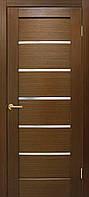 Полотно дверное шпонированое ТМ ОМИС Лондон Зебрано, 600, массив сосновых пород, шпон дуба, Со стеклом