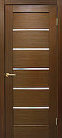Полотно дверное шпонированое ТМ ОМИС Лондон Зебрано, 900, массив сосновых пород, шпон дуба, Со стеклом