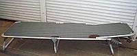 Шезлонг раскладушка 58х195х32 см для отдыха на природе серый