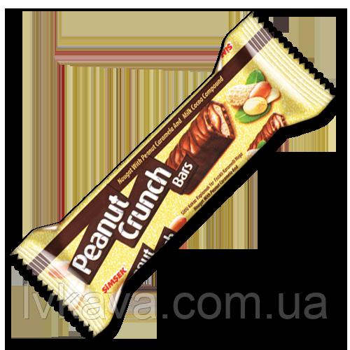 Шоколадный хрустящий  батончик Peanut Crunch Simsek , 22 гр