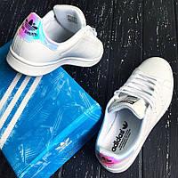 Размеры 36 и 39!!! Женские Adidas Stan Smith J 'Iridescent' / топ реплика/ адидас стан смит