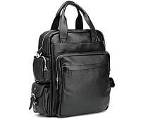 Рюкзак кожаный TIDING BAG T3069 черный, фото 1