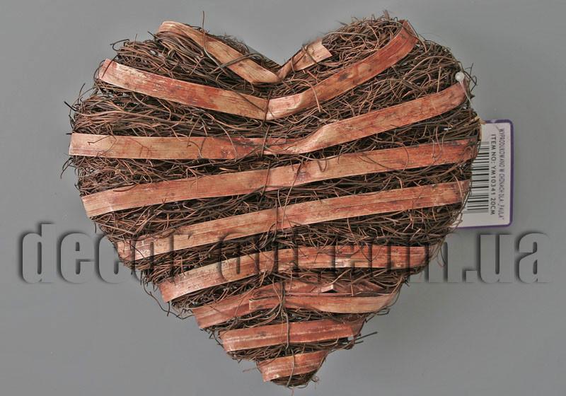 Сердце коричневое 20х20см YM10341