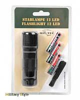 Фонарик ручной 12 LED (3ААА), black