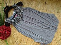 Блузка туника Кристи 13453 серый 42-48р