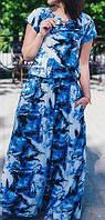 """ПП Украина Платье  большого и маленького размера """"Принт """" от 46 до 64 размер"""