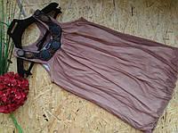 Блузка туника Лиза 13443 шоколад 42-48р