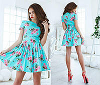 Красивое платье из летнего джинса