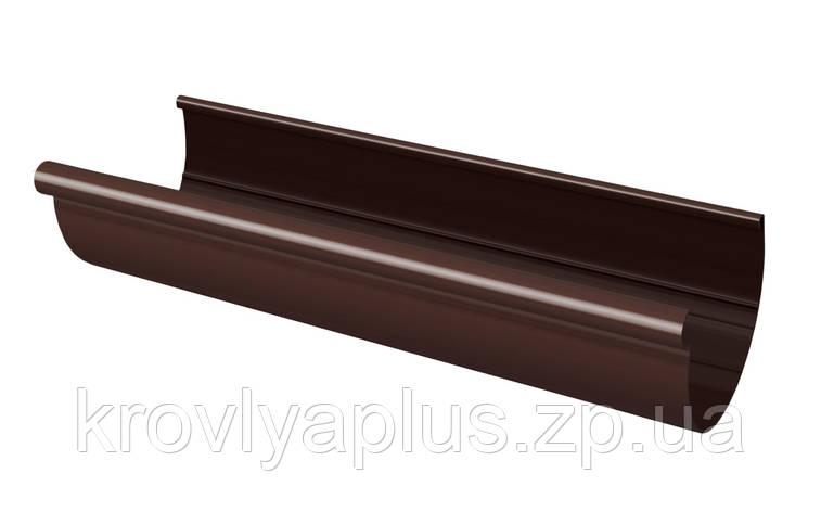 Желоб водосточный Ø130 (Rainway, Украина) 3 м, коричневый  , фото 2