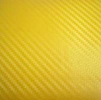 Карбоновая пленка жёлтая. Пленка под карбон для автомобиля 127*30 см