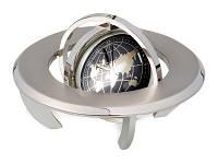 Часы «Полушарие» с картой мира. Обратная сторона часов предназначена для вставки фотографии или рекламного мини-постера (d40 мм)