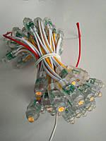Світлодіоди жовті швидкого монтажу, светодиодный пиксельный модуль оранжевый для рекламы
