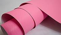 Карбоновая пленка розовая. Пленка под карбон для автомобиля 127*100 см