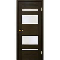 Полотно дверное шпонированое ТМ ОМИС Берлин Венге, массив сосновых пород, шпон дуба, 800, Со стеклом